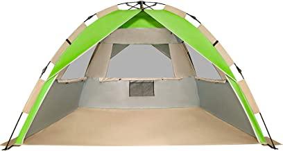 G4Free Easy Setup Beach Tent Deluxe XL Sun Shelter with UPF 50+ UV Protection