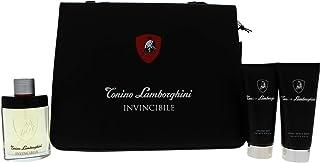 Tonino Lamborghini Invincibile • Brand New • SET DE REGALO en carpeta-portafolio para Hombres: Agua de tocador 125 ml (4.2...