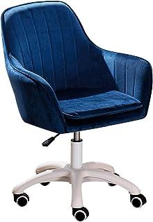 Silla de oficina ergonómica giratoria Silla de oficina en casa Silla ergonómica de escritorio para computadora, silla de trabajo con ruedas silenciosas para niñas, silla de recepción ajustable en al