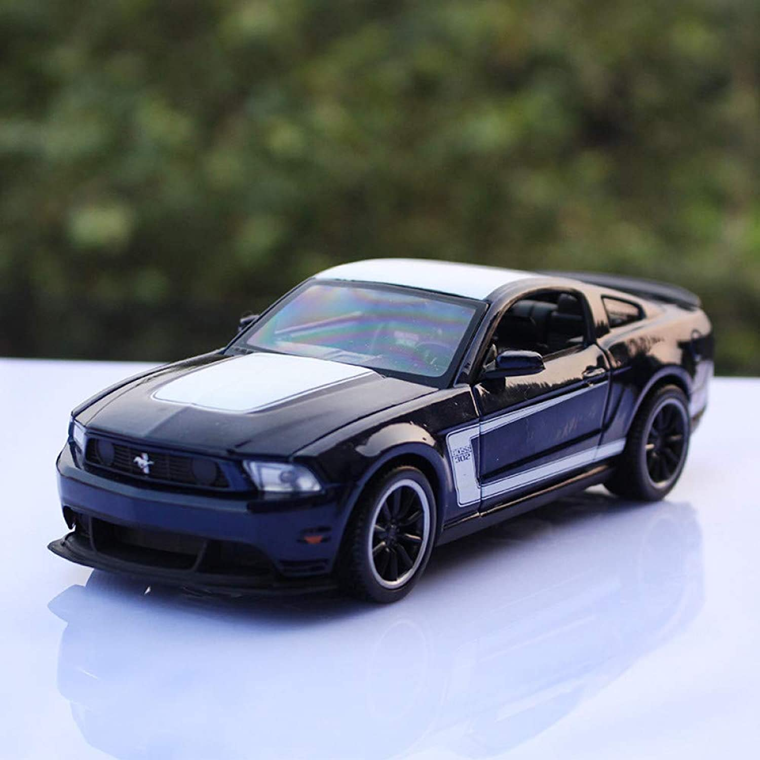 QAQW 1 24 Ford Mustang Boss302 Festival Collection Gift bluee Alloy Car Model