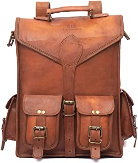 390e622e0f63 Leather Messenger Bag Briefcase Satchel - 2-in-1 Rucksack and Courier Bag