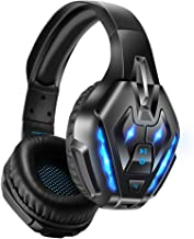 Best PHOINIKAS Gaming Headset for PS4, PC, Xbox one Headset with 7.1 Sound, Bluetooth Wireless Headset for Phone, Over Ear Headphones with Noise Cancelling Detachable Mic, LED Light, Bluetooth Up to 40h Review