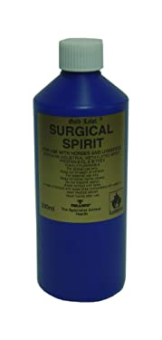 Gold Label Surgical Spirit, Skin Cleaner & Steriliser for Horses, 500ml