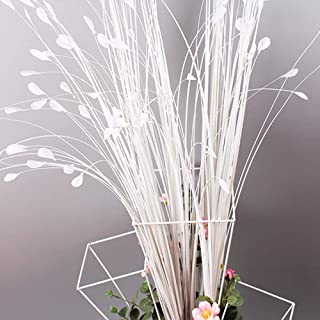 Vanselonsa 10pcs Artificial Flower Bouquets Wedding Bridal White Peacock Props Phoenix Feather Flying Grass - Artificial Flowers Dried