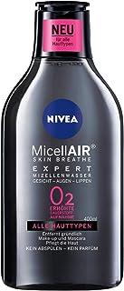 NIVEA MicellAIR Skin Breathe Mizellenwasser Expert im 4er Pack 4 x 400 ml, Make-up Entferner erhöht die Sauerstoffaufnahme & entfernt Make-up, Mizellen Reinigungswasser, 0 % Produktrückstände
