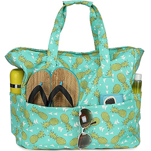 Wasserdichte Strandtasche / Pool-Tasche für Damen, extra groß, für Fitnessstudio, Handgepäck mit Nassfach für Wochenendreisen