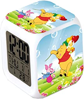Very Lovely Winnie The Pooh Alarm Clocks,Glowing LED Color Change Alarm Clocks