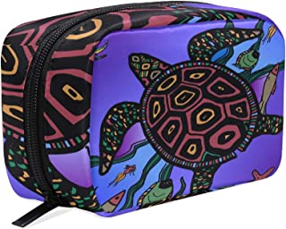 Cosmetic Bag Makeup Case Toiletry Pouch Turtle The Sea World