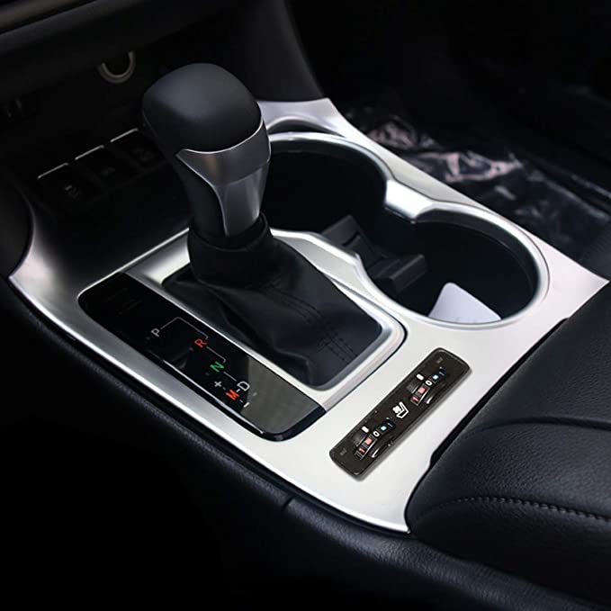 Senzeal 2pcs Plated Armrest Storage Box Cover Trim Fit for Toyota Highlander 2014 2015 2016 2017 2018 2019 Car Interior