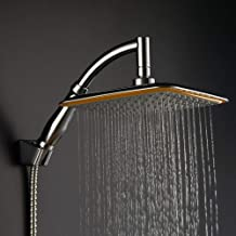 4 ganchos para ducha incluidos Rociador de ducha manual de alta presi/ón cromo rociador antifugas de 5 etapas con potente rociado