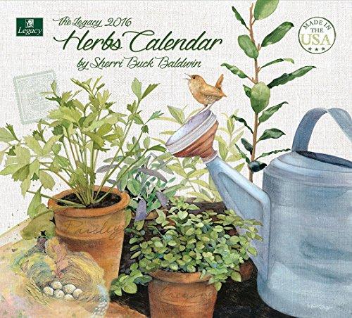 Legacy Publishing Group 2016 Wall Calendar, Herbs (WCA19386)