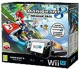 Console Wii U Premium nera con 32GB* di memoria, un Wii U GamePad, la barra sensore e il gioco di Mario Kart 8 precaricato Corri su, giù e su qualunque superficie, su incredibili piste che sfidano la forza di gravità. Scopri chi è il pilota più veloc...