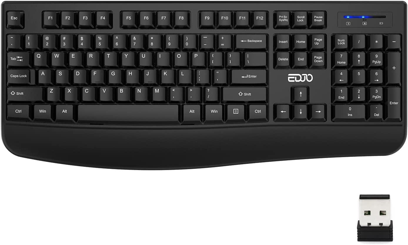 Max 42% OFF Wireless Keyboard EDJO 2.4G Full Comput Size Ergonomic We OFFer at cheap prices