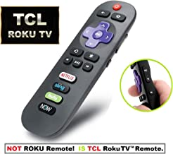 IKU-GO9 Replacement Remote for TCL Roku TV with Shortcuts eg. Netflix DirecTV Now (RC280 RC282 Standard IR Remote)