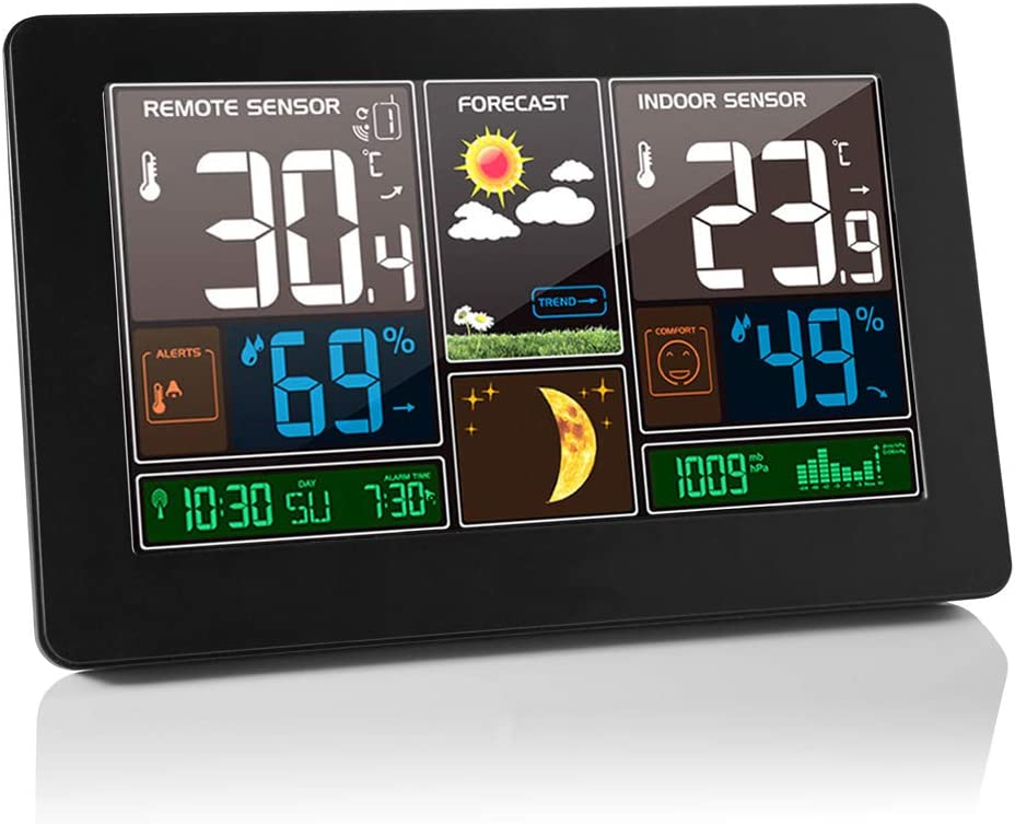 Spring new work AOZBZ Wireless Weather Station with Sensor Max 47% OFF Hygromet Thermometer