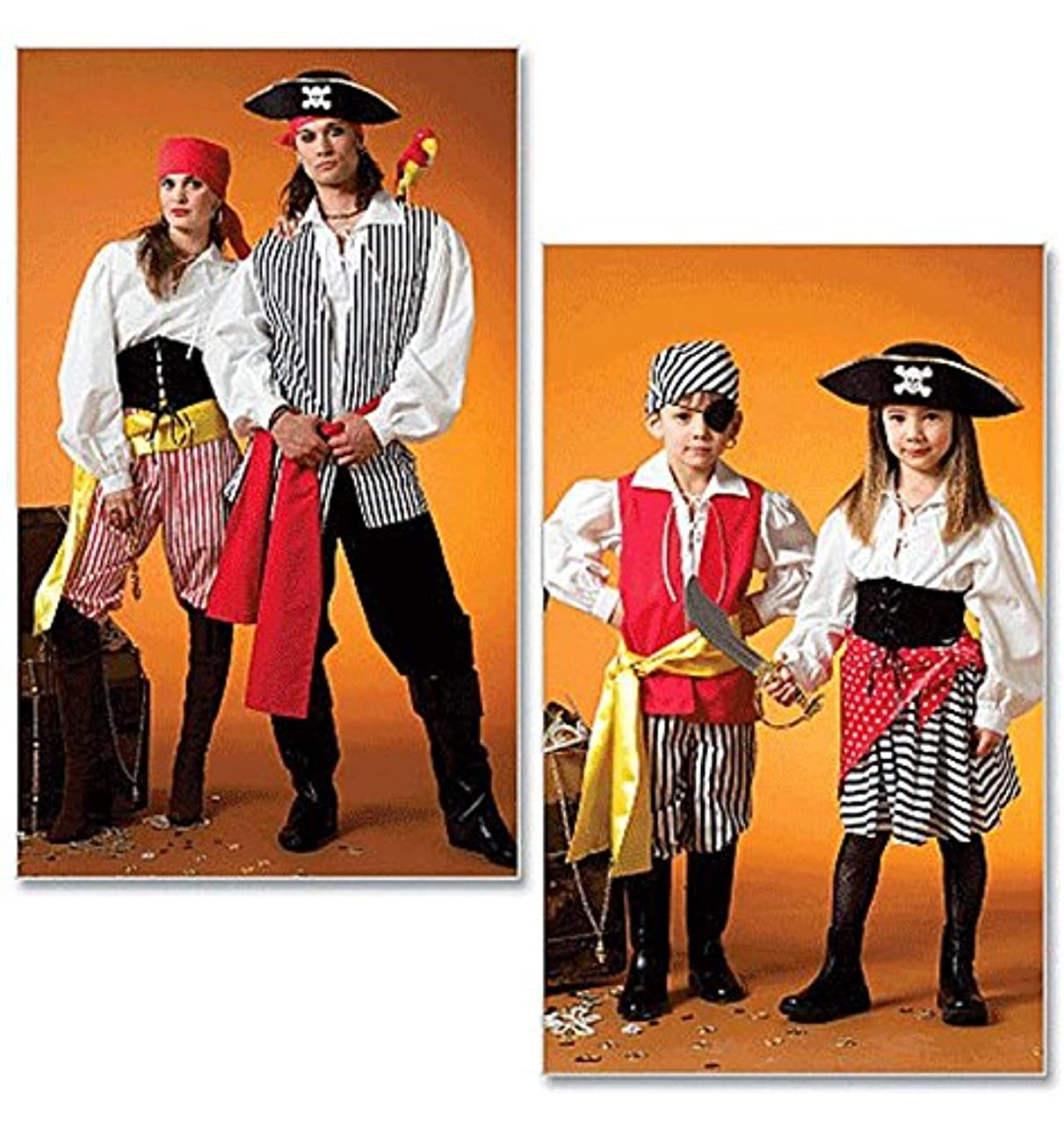 McCalls Misses, Mens, Childrens, Boys, Girls Sewing Pattern 4952 Costumes 3-8