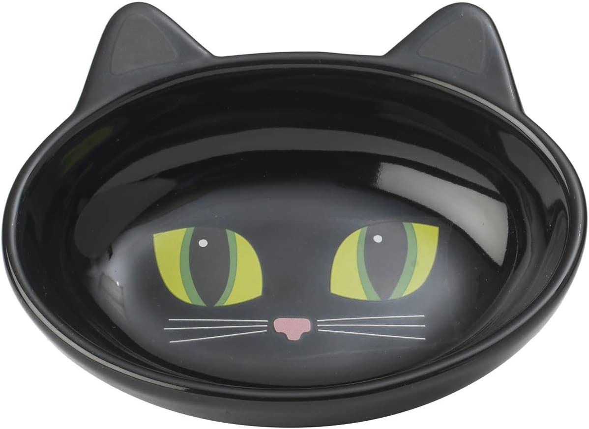 PetRageous Oval Frisky Max 86% OFF Kitty San Jose Mall Stoneware an 5.5-Inch Cat Bowl Wide
