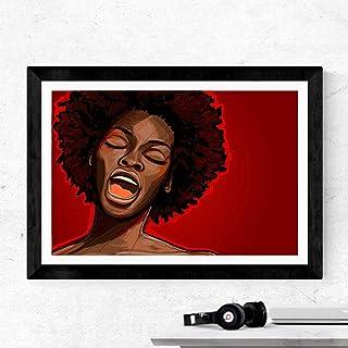 N / A Un cantante Jazz su Tela Stampe e Poster Moderna Popolare Stella Musicale Donna Pittura Parete Foto Decorazioni per ...