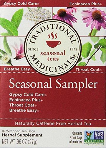 Traditional Medicinals Seasonal Tea Sampler Variety Pack 16 ea