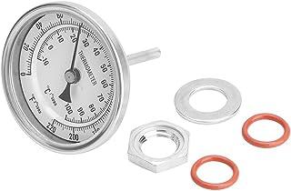 """Thermomètre de brassage de bière, kit de thermomètre bimétallique sans soudure 1/2""""MNPT 0~220F pour thermomètre à bière et..."""