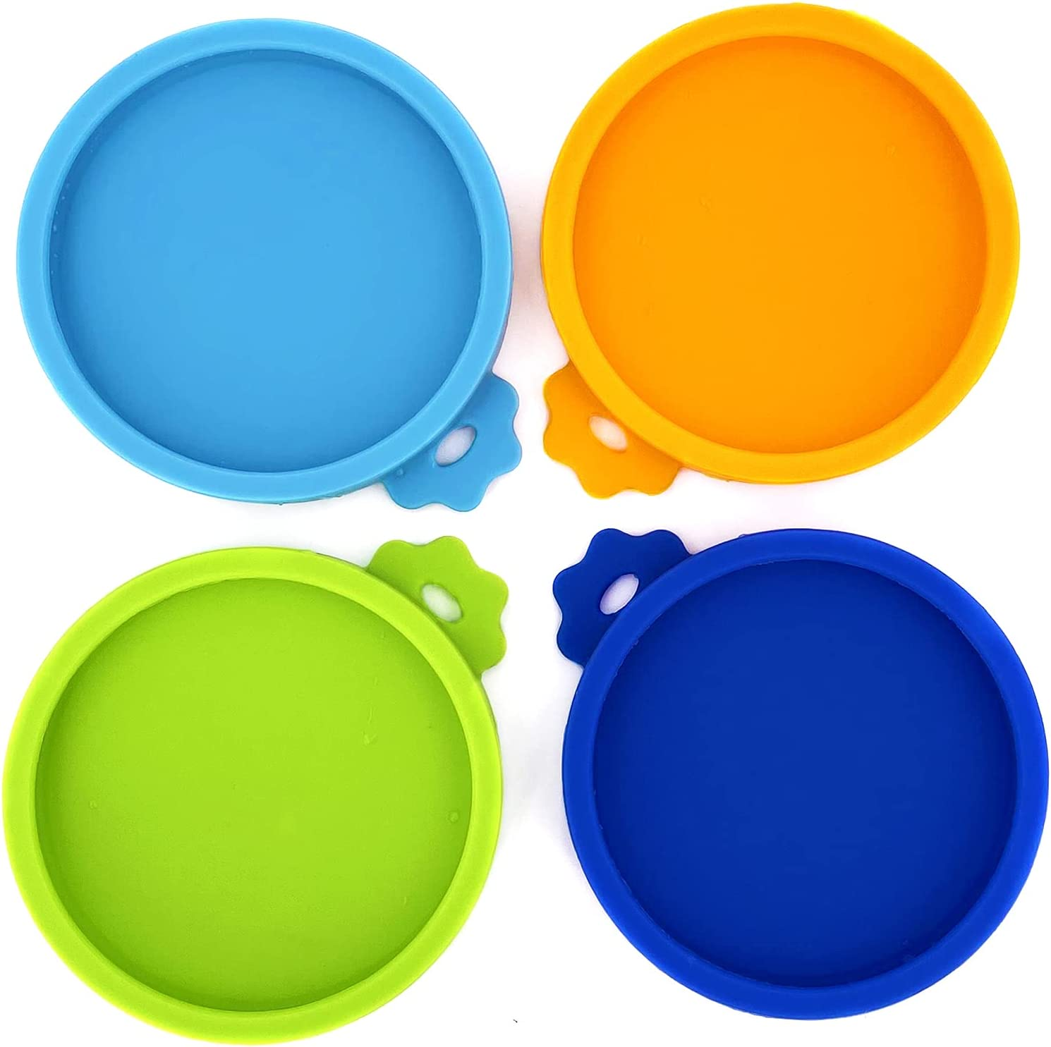 Comtim 4 Pack Cat Food Can Lids, Silicone Small Pet Food Can Lids Covers for 3 oz Cat Food Cans