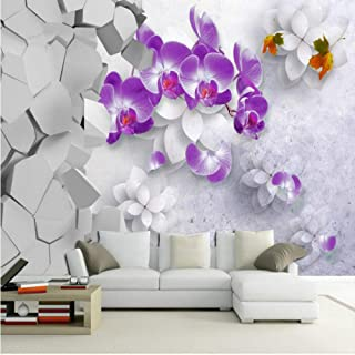 zrisic 3D Wallpapers Custom Wall Mural Photo Silk Murals Wallpaper Customization Background for Living Room Butterfly Orchid Stereo beautiful-140x100CM
