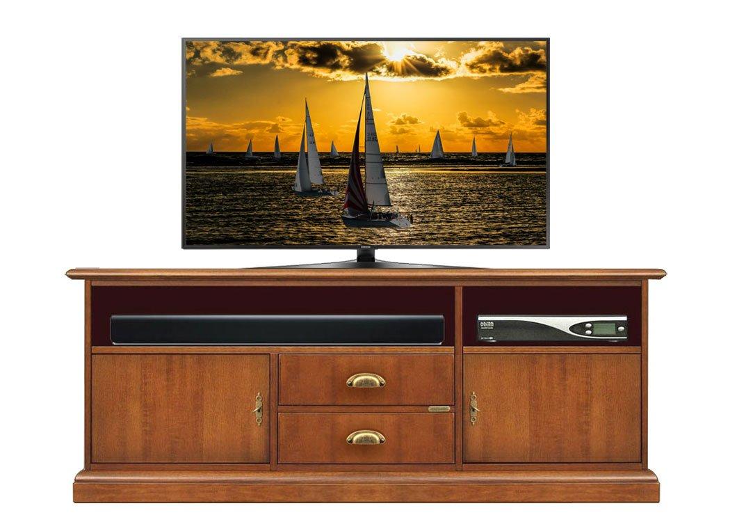Mueble de TV para barra de sonido 150 cm, armario TV con espacio para barras de