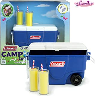 Sophia's 18 Inch Doll Playset Accessories, Blue Coleman Cooler & Lemonade Glasses Perfect for 18 Inch American Girl and Other Mini Play Food Sets! Blue Coleman Cooler, Lemonade Glasses Doll Items