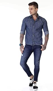 Jeans Cropped, Sawary Jeans, Masculino