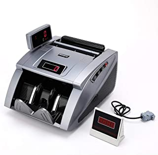 Kaegue Money Counter Bill Counting Machine with UV/MG/IR Detection Business Grade Currency Cash Counter,Counterfeit Bill Detection (Gray)