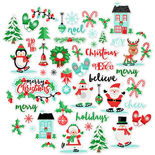 Paper Die Cuts - Festive Christmas - Over 60 Cardstock Scrapbook Die Cuts - by Miss Kate Cuttables