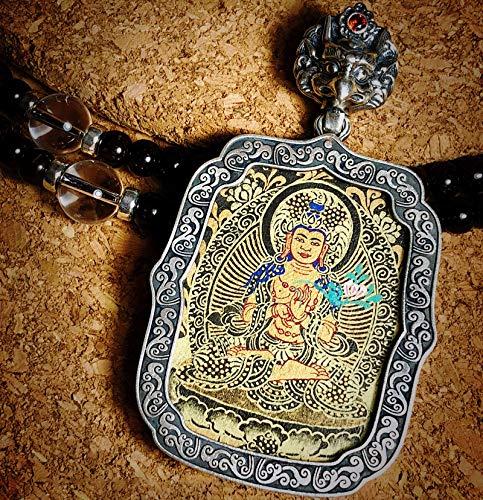 QWX Buda Colgante Adorno Talismán para Mujer Colgante Thangka Joyas Artículos Preciosos Un Amuleto simbólico Adecuado para budistas, Da shizhi bodhisattva
