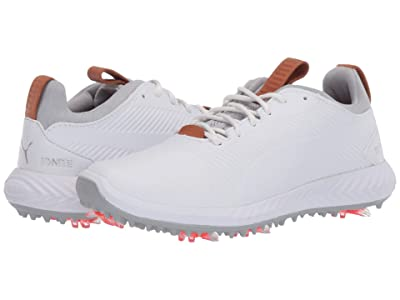 PUMA Golf Ignite Pwradapt 2.0 (Little Kid/Big Kid) (Puma White/Puma White) Shoes
