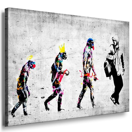 Banksy EvolutionImpression sur toile monte sur chssis,...