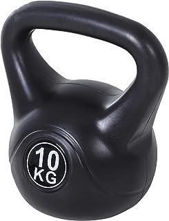 homcom Kettlebell da 10 kg per Sport e Fitness in PVC con Sabbia e Maniglia Liscia Anti-Sfregamento