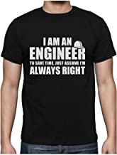 Green Turtle T-Shirts Camiseta para Hombre - Regalo para Ingeniero - I'm an Engineer, I'm Always Right