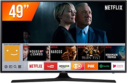 "Smart TV LED 49"" Ultra HD 4K, Samsung UN49MU6100, Preto"