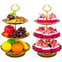 2 Pack IMILLET Three Tier Cake Stand and Fruit Plate