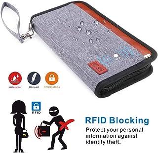 sunnymore Family Travel Passport Holder RFID Blocking Portable Travel Wallet Document Organizer with Zipper for Women & Men
