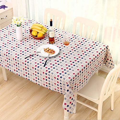 YUQIBXC - Mantel rectangular de lino y algodón, diseño de grano de madera de imitación a prueba de polvo, para cocina, comedor, decoración de mesa, 03., 120×160cm