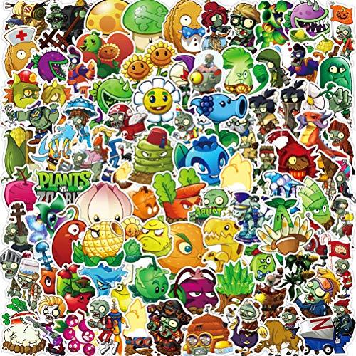 Adesivi Stickers Pack YUESNE 100PCS Plants Adesivi Bagagli Pianoforte Auto Bike Graffiti Sticker Impermeabile Vinile Waterproof, per Adolescenti, Adulti, Bambini, Biciclette, Skateboard, Valigia