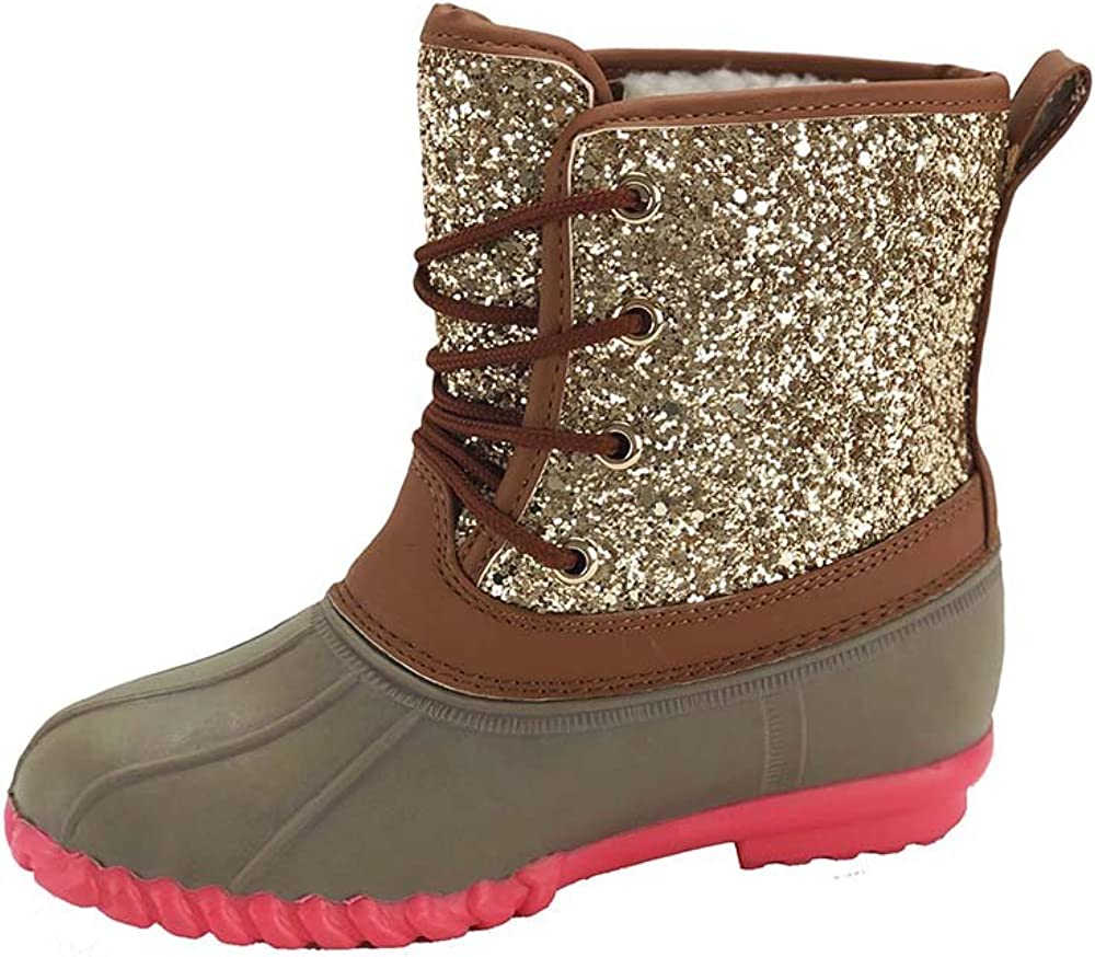 Botique Girls Duck Boots with Glitter