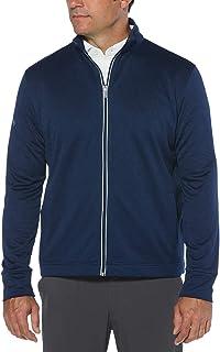 Callaway Men's Golf Full Zip Long Sleeve Waffle Knit Fleece Jacket