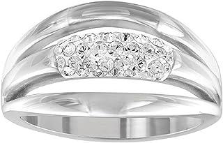 施华洛世奇女式戒指镀铑玻璃透明–512416