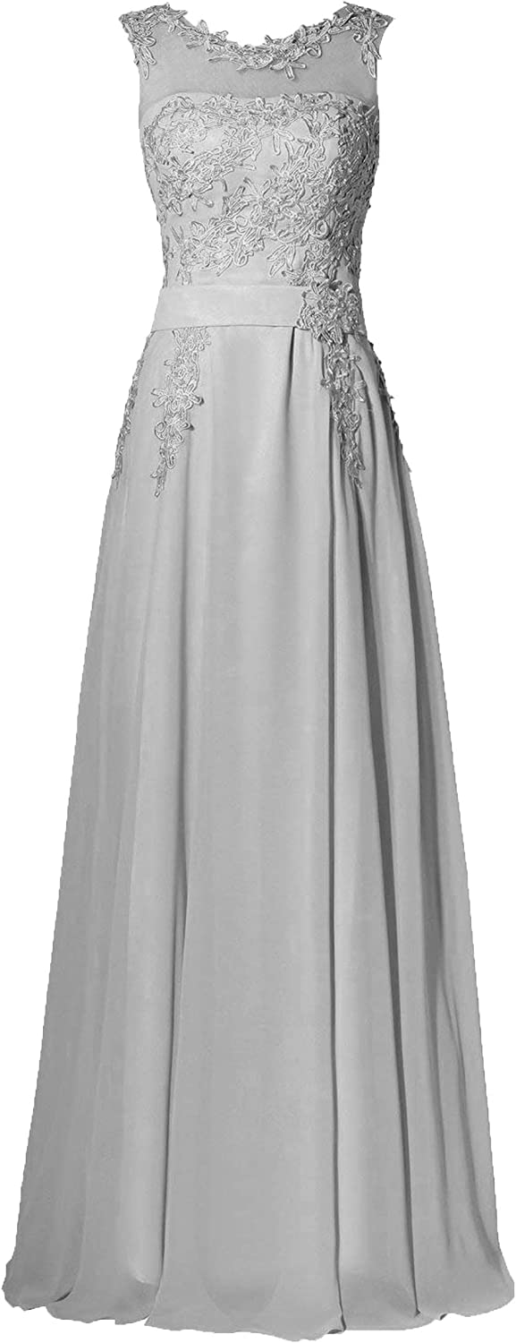 Miao Duo Women's Scoop Lace Beads Evening Formal Dress Long Wedding Party Gown 111