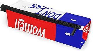 Glasses Case Unique DON't Multi-Function Zippered Pencil Box Makeup Cosmetic Bag for Women