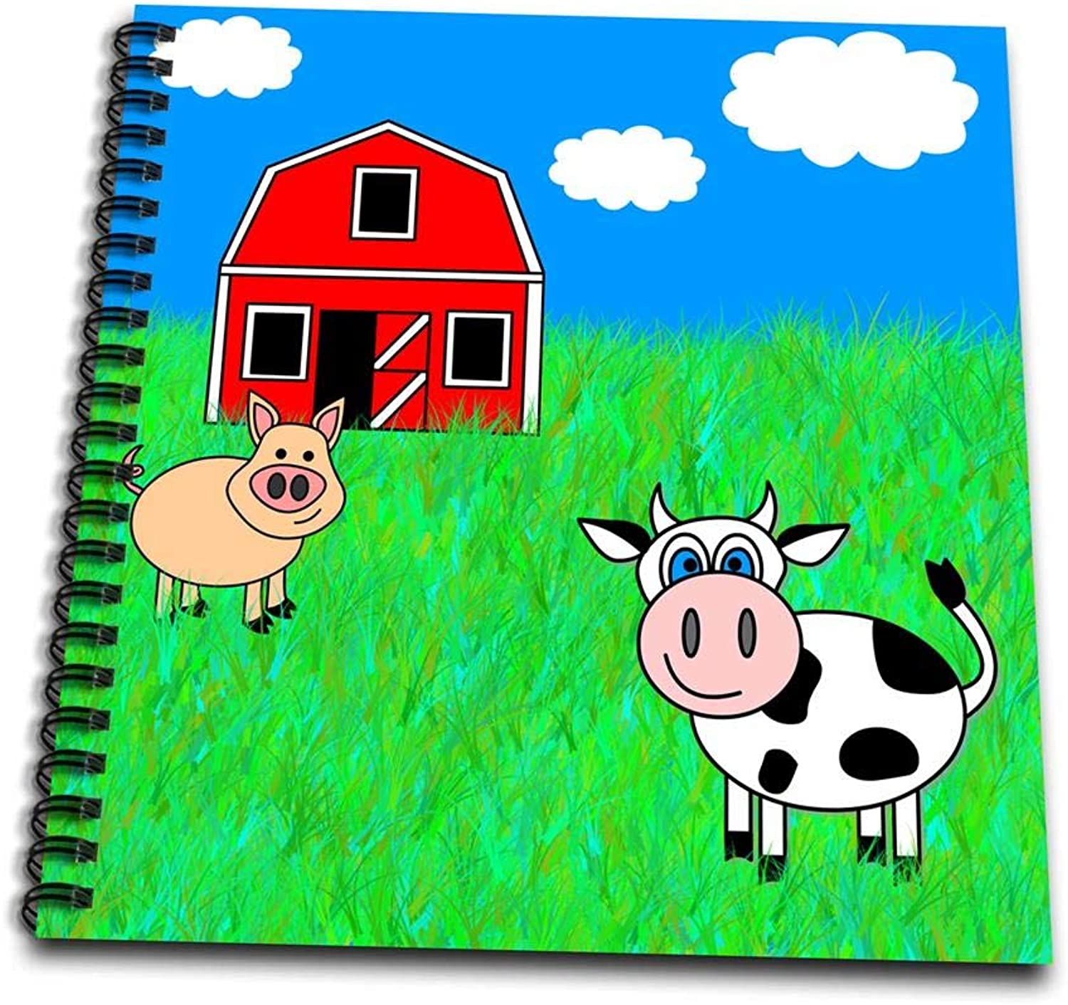 3dpink on The FarmCow, Pig and BarnDrawing Book, 8 by 8  (db_6344_1)