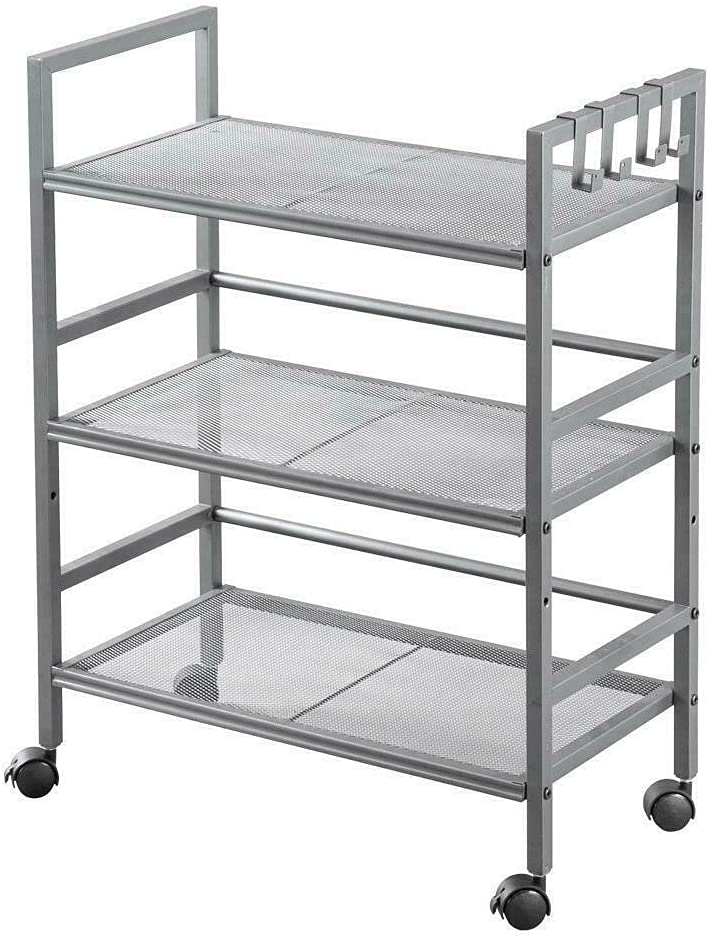 HJKM 3 Super beauty product restock quality top Tier Kitchen Kitchen-Islands-and-carts Cart Grey 2021 model