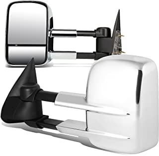 DNA Motoring TWM-022-T222-CH Pair of Towing Side Mirrors