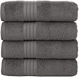 Ultralight Grey Bath Towels Quick-Dry High Absorbent 100% Turkish Cotton Lightweight Towel for Bathroom, Guests, Pool, Gym, Camp, Travel, College Dorm, Shower